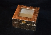 Golden Covered Box with Clear Top